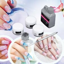 Chic Portable Nail Art Tool Kit Set Crystal Powder Acrylic Liquid Dappen Dish YX