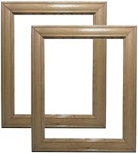 Set of 2 - 8x10 Natural Oak Wood Picture Frames~Pickled~White~5x7~10x12~18x24