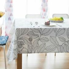 New Arrival Cotton Fabric Waterproof Rectangle Shape Table Cloth L2172