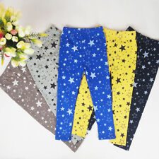 2-7Y Child Kids Baby Stretchy Pants Star Printed Casual Long Leggings Trousers