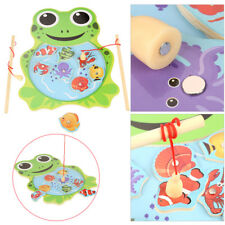 Baby Wooden Magnetic Fishing Toys Jigsaw Puzzle Board Education Toy for Children
