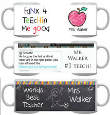 Best teacher Mug *personalised* end of year, thank you, #1, gift, chocolate