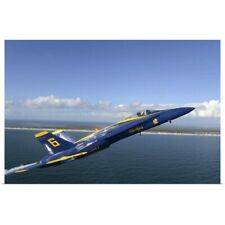 Poster Print Wall Art entitled An F/A-18 Hornet from the Blue Angels during a