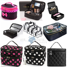 High Quality MAKE UP BAGS Large Travel Case Organizer  Makeup zipper clear black