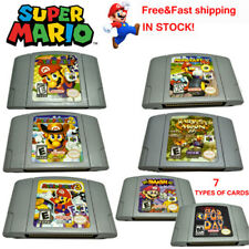 Super Mario 64 & Party1 2 3 Game Card Cartridges For Nintendo 64 N64 US Version