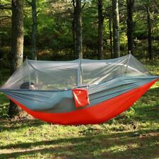 Tent Camping Hammock Mosquito Bed Hanging Travel Outdoor Person Double Parachute