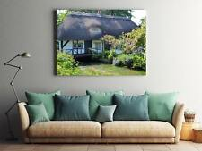 Framed Canvas Stretched Print England Countryside Cottage Rural