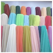 """50 Yards Chiffon Fabric 60"""" Wide Roll Sheer Draping 40 Color Wedding Party Decor"""