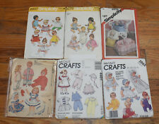 U-Pick Vintage Patterns Baby Doll Clothes & Baby Doll Carriers Cut & Uncut OOP