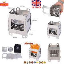 Folding Wood Burning Stove Pocket Stove Outdoor Camping Stainless Steel Stove