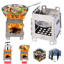 Portable Wood Burning Stove Pocket Stove Outdoor Camping Stainless Steel Stove