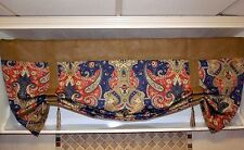 Custom Made To Order French Country Burlap And Your Choice Of The Fabric Valance