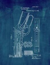 Winchester 1894 lever action Rifle Patent Print Midnight Blue