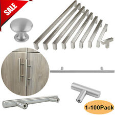 Stainless Steel T Bar Square Pulls Knobs Handles Cabinet Door Kitchen Drawer AS
