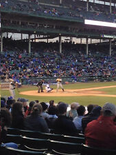 CHICAGO CUBS V GIANTS 5/26 2 TICKETS ROW 1 SEC 129 WRIGLEY FIELD MUST SEE SEATS