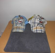 Ed Hardy by Christian Audigier Plaid Snapback Mesh Baseball Cap DO OR DIE