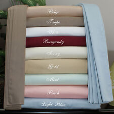 New Bedding Collection Twin Size 800TC Egyptian Cotton Solid Colors
