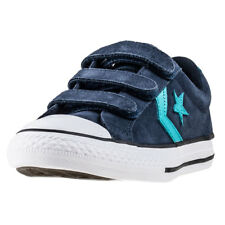 Converse Star Player Ev 3v Ox Kids Navy Teal Suede Trainers