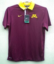 Minnesota Golden Gophers Mens Nike Maroon Dri Fit Polo Shirt $75 - SZ M