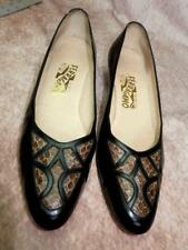 Vintage Salvatore Ferragamo Size 10AAAA Snakeskin  and Patent Leather Pumps