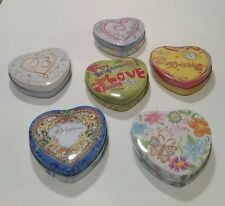 """♡U CHOOSE♡ BRIGHTON® """"SMALL"""" COLLECTIBLE HEART SHAPED METAL TINS CONTAINERS"""