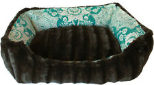 Mirage Reversible Bumper Gypsy Teal Dog Bed