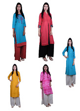Casual Women Ethnic Designer Kurti Dress Tunic Top Indian Bollywood Kurta New