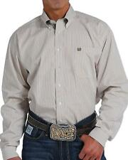 Cinch Men's Striped Long Sleeve Button Down Shirt - MTW1104573