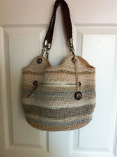 The Sak Indio Crochet Satchel Tote Hand Bag
