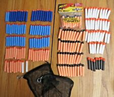 NERF Gun Soft Darts Lot 191 Including Whistler Darts and 2  Mesh Pouches