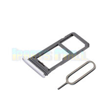 SIM Micro SD Card Tray Slot Holder For Samsung Galaxy S8 G950F Replace Silver