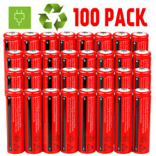LOT 100x 18650 3.7V 3000mAh Li-ion Rechargeable Battery Cell For Flashlight New