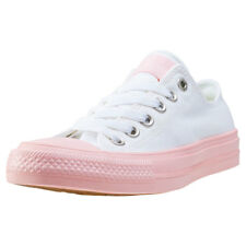 Converse Chuck Taylor All Star Ii Ox Womens White Pink Canvas Trainers