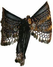 ST Agan Traders Belly Dancing Zumba Hip Coin Gypsy Hip Scarf