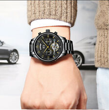 Luxury Men Automatic Mechanical Wristwatch Male Stainless Steel Business Watches