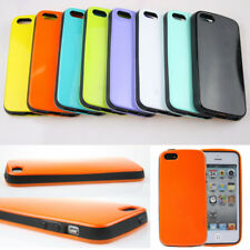 Colorful Back Skin Cover+TPU Bumper Hard Case Cover For Apple iPhone 4 4S 5 5S