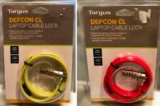 TARGUS DEFCON CL CABLE COMBINATION LOCK -Laptop, Netbook, Projector, Monitor NEW