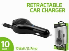 Cellet 10 Watt / 2.1 Amp Micro USB Retractable Car Charger for Android Devices