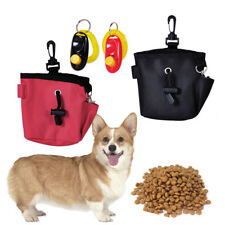 Funny Puppy Pet Dog Treat Training Bait Food Pouch Waist Bag Holder W/Clicker