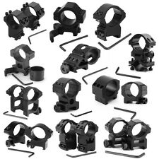 Outdoor Various Tactical Scope Rings Mount Weaver Picatinny Rail For Rifle NEW