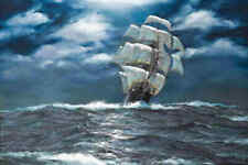Art Wall HD print oil painting Ship Sailing Landscape Modern Home Decor Canvas