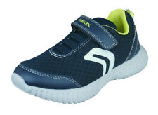 Geox Boys Trainers J Waviness B.A Casual Comfortable Shoes Navy World Shipping