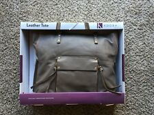 NWT Kooba Genuine Leather Tote Bag in TAUPE MSRP $99, FREE SHIPPING 077979515415