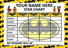 Children's Behaviour Chart - Reward / star Chart, Includes Stickers. RE-USABLE