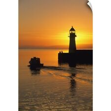 Wall Decal entitled Sunrise, Harbour Lighthouse, Grand Bank, Newfoundland,
