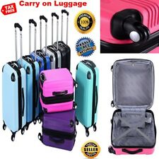 Expandable Carry on Luggage Travel Bag Trolley Suitcase with Spinner Wheel Pink