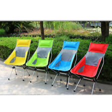 Outdoor Foldable Camping Chair Fishing Beach Picnic Seat Lounger w/ Pillow
