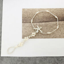 Bohemian Starfish Elastic Chain White Stretch Anklets Beach Ankle Jewelry