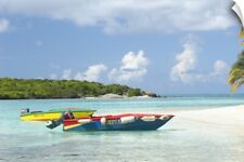 Wall Decal entitled St. Vincent and the Grenadines, colorful boats anchored on
