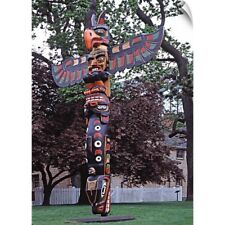 Wall Decal entitled Canada, British Columbia, Vancouver Island, A Kwakiutl totem